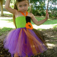 Bewitched tutu dress costume with matching hat.