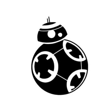 Star Wars Forces Awakens BB8 BB-8 Vinyl Decal Sticker