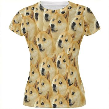 Doge Meme Funny All Over Juniors T Shirt