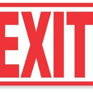 EXIT - Vinyl, Polyethylene or Magnet sign