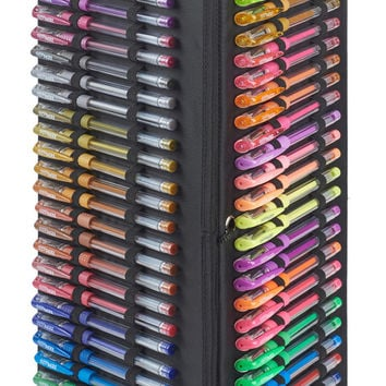 75 Gel Pens with storage organizer - Great gift for him or her - glitter metallic neon pastel gel pens - Gel pen set with gel pen organizer