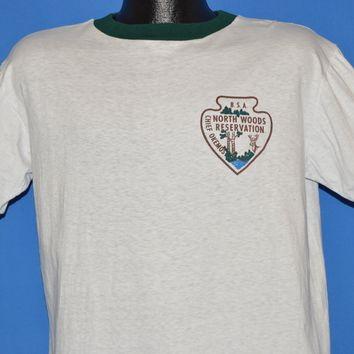 60s North Woods Reservation Boy Scouts t-shirt Large
