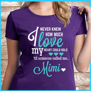 Mimi shirt A great grandmother gift for your Mimi. Also names such as Granny & Nana.  All grandmas would love to wear this Mimi Tee Shirt