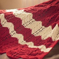 Pattern: Classic Cable Chevron Afghan