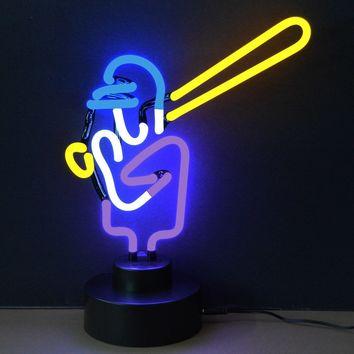 Baseball Neon Sculpture