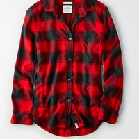 AE Ahh-Mazingly Soft Flannel Boyfriend Shirt, Red