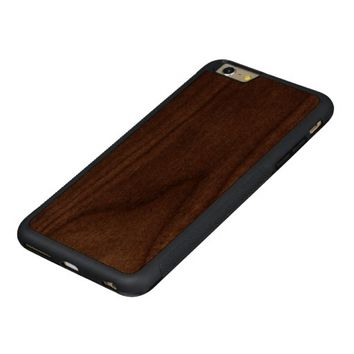 Cool Light Gold Glitter Carved® Walnut iPhone 6 Plus Bumper