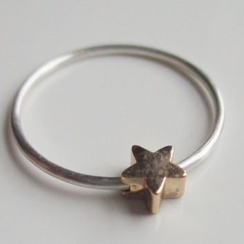 Star Ring,  Fidget Ring,  Worry Ring, Anxiety Jewelry, Gold Star Ring,  Bead Ring