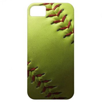 Yellow Softball iPhone 5 Cases from Zazzle.com