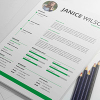 MS Word Professional Resume Template with Cover Letter, CV Template