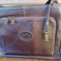 ON SALE!!!  - Vintage American Angel Brown Genuine Leather Bag - Was 30.00 - NOW 25.00