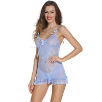 Light Blue Romantic Babydoll Sale LAVELIQ