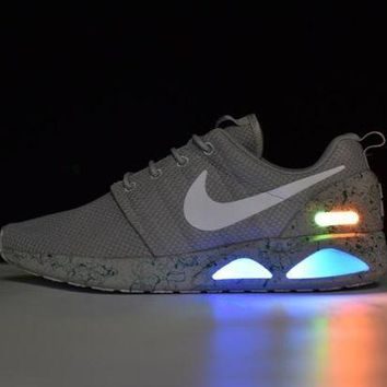 LMFYN6 Nike Roshe Run Air Mag run LED Color Grey 417744-001