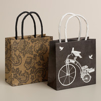 Mini Bike and Lace Kraft Gift Bags, Set of 2 - World Market