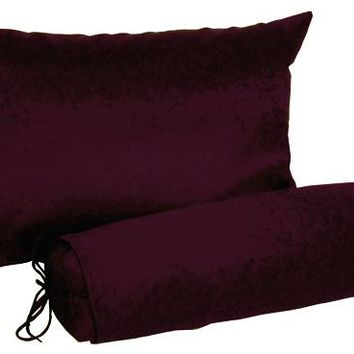 J-Life Burgundy Buckwheat Hull Pillow