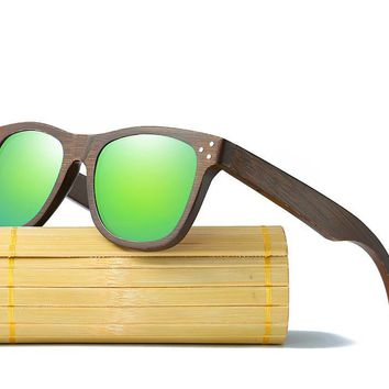 Bamboo Polarized Wooden Glasses With Wood Case