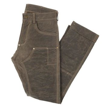 GN.01 WAXED CANVAS FITTED WORK PANT - HAVANA