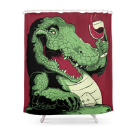 Society6 Party Croc Shower Curtain