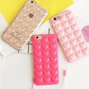 3D Heart Phone Case for iPhone