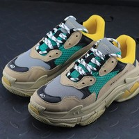 Balenciaga Triple-S Khaki / Lemon Yellow / Green Sneaker