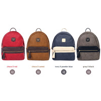 Monopoly Dual Two tone leather small backpack
