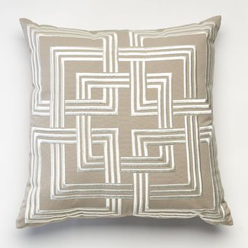 Happy Chic by Jonathan Adler Holly Geo Throw Pillow (Grey)