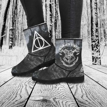 Harry Potter Boots | Harry Potter Fur Boots