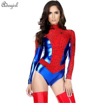 DCCKHY9 Red Spiderman Costume Batman SuperWomen Halloween costumes for Women  Anime cosplay Carnival Costume Sensible Seductress