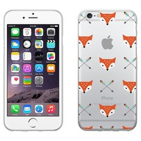 OTM Hipster Prints Clear Phone Case, Mr. Fox - iPhone 6