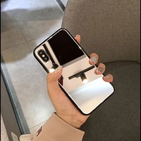 Luxury mirrored tempered phone case