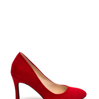 All Pumped Up Faux Suede Heels