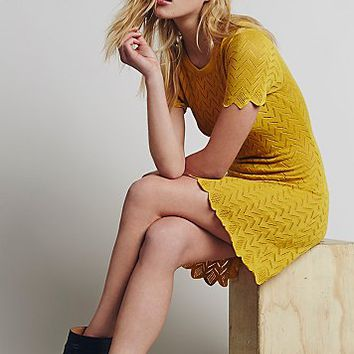 Knitz by For Love & Lemons Womens Lemon Drop T Shirt Dress