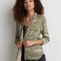 AEO Stay Lovely Camouflage Jacket , Multi