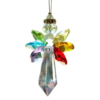1PCS Crystal Glass Icicle Pendant K9 Crystal Lamp Prism Pendant Parts Hanging Suncatcher Pendant