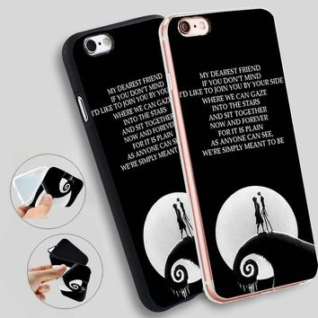 Minason The Nightmare Before Christmas Soft Silicone Case for iPhone X 5 S 5S XR XS Max 6 6S 7 8 Plus Cover Phone Fundas Capinha