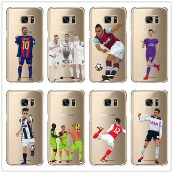 Cristiano ronaldo Lionel messi Phone Case For Samsung Galaxy S6 S7 J6  J8 2018 S7Edge Note8 9 soft TPU phone box