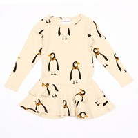 MINI RODINI PENGUIN DRESS BEIGE