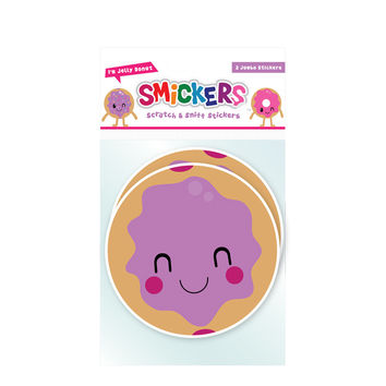 Jumbo Scratch and Sniff Jelly Donut Sticker