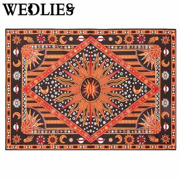 Polyester Indian Mandala Tapestry Wall Hanging Throw Blanket Bohemian Bedspread Dorm Cover Home Room Wall Decor 200x145cm