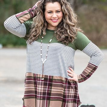 Plaid & Stripe Tunic