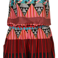 Aztec Bandeau Cover Up - Calypso - Collections - Topshop