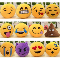 6 Inch Lovely Emoji Smiley Emoticon Pillows Soft Stuffed Plush 12 Styles