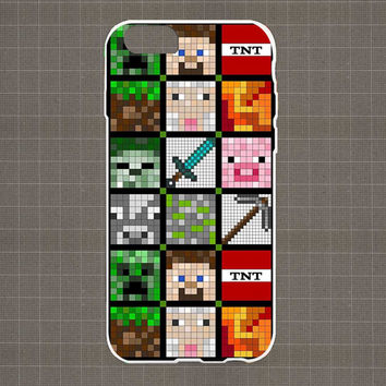 Minecraft Quilt Face-Lego iPhone 4/4S, 5/5S, 5C Series Hard Plastic Case