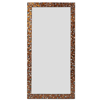 "Mirrors, 72"" Rectangle Mirror, Brown/Turquoise, Wall Mirrors"