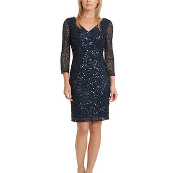 Js Collections Sequined V Neck Dress