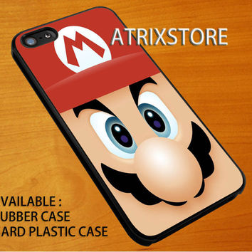 super mario bross face,Accessories,Case,Cell Phone,iPhone 5/5S/5C,iPhone 4/4S,Samsung Galaxy S3,Samsung Galaxy S4,Rubber,09-07-4-Rk