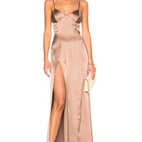 Michelle Mason x FWRD Exclusive Bustier Gown in Mink | FWRD