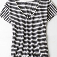 AEO Women's Favorite Striped Pocket T-shirt