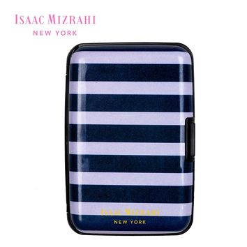 Isaac Mizrahi New York Hard Case Wallet & Card Holder w/ RFID Protection & Secure Clasp Fits 7 Cards (See More Colors and Designs)