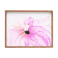Monika Strigel Flamingo Ballerina Rectangular Tray
